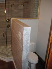 Master Bath Vanity, shower threshold, and kneewall cap ...