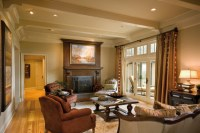 """Remodel of a 1980""""s ranch house - Traditional - Living ..."""