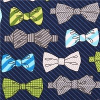 blue bow tie fabric Robert Kaufman Fox and the Houndstooth ...
