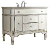 "44"" All-Mirrored Reflection Austin Bathroom Sink Vanity ..."