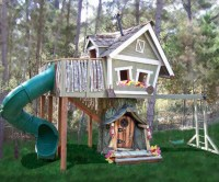 Monkey Mansion Treehouse - Eclectic - Outdoor Playhouses ...