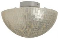 Round Semi-Flushmount Ceiling Lamp in Capiz Shell - Beach ...