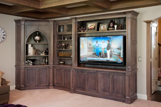 Decorating Brown Room Restoration Hardware Style Home - Transitional - Living Room - cleveland - by Mullet Cabinet