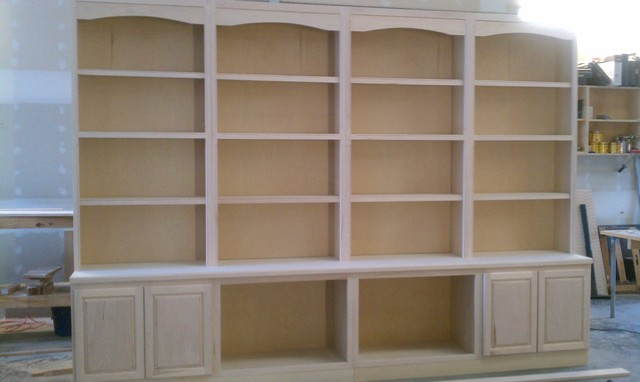 Custom Built In Library Book Case Pre Stained