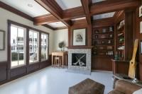 Mahogany Dark Wooden Beams - Coffered Ceiling Design ...