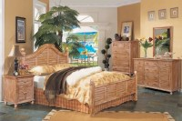 Tortuga Bedroom Collection - Cinnamon Bark Finish - Beach ...