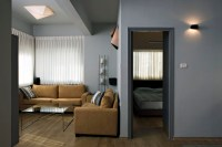 Small Bachelor Apartment - Contemporary - Living Room ...