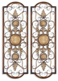 Micayla Large Metal Wall Art - Traditional - Artwork - by ...