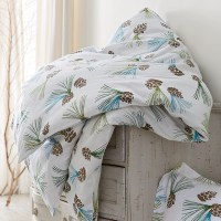 Pinecone Flannel Sheets & Bedding Set - Contemporary ...