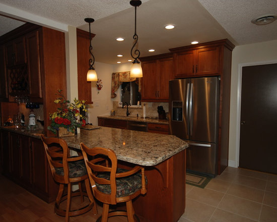 traditional great room galley kitchen design photos medium small traditional galley eat kitchen design photos medium