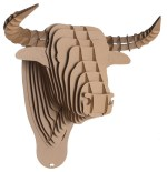 Cardboard Bull Head