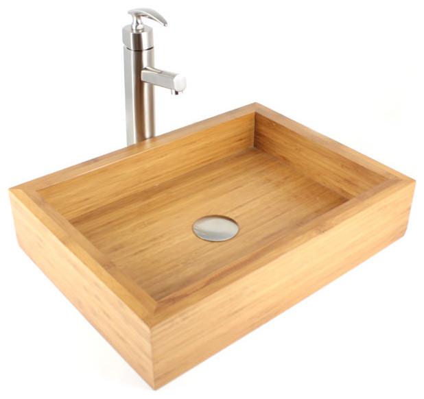 Irenic Bamboo Countertop Bathroom Lavatory Vessel Sink
