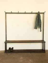 Coat Rack Bench - Industrial - Hall Trees - by Strawser ...