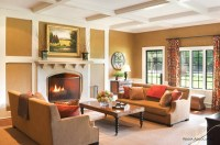 American Tudor Arts & Crafts - Traditional - Living Room ...