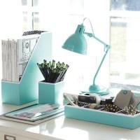 Preppy Paper Desk Accessories, Solid Pool - Contemporary ...