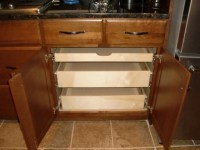 Pull Out Shelves in a Kitchen Cabinet - Kitchen Drawer ...