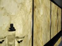 Back-lit Onyx wall panels