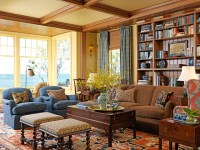 New England Ocean View - Traditional - Living Room ...