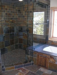 Slate tile shower