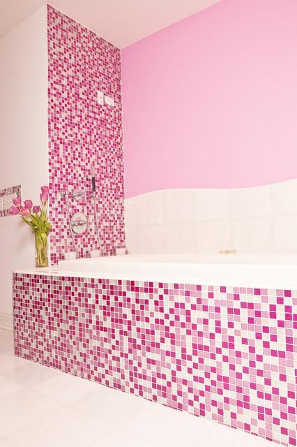 pink glitter bathroom modern bathroom new york