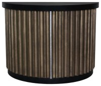 Fluted Half Round Cabinet - Contemporary - Accent Chests ...