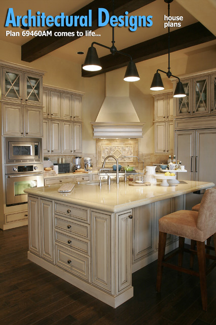French Provincial Kitchen Island Plan 69460am - Energy Efficient French Country Design