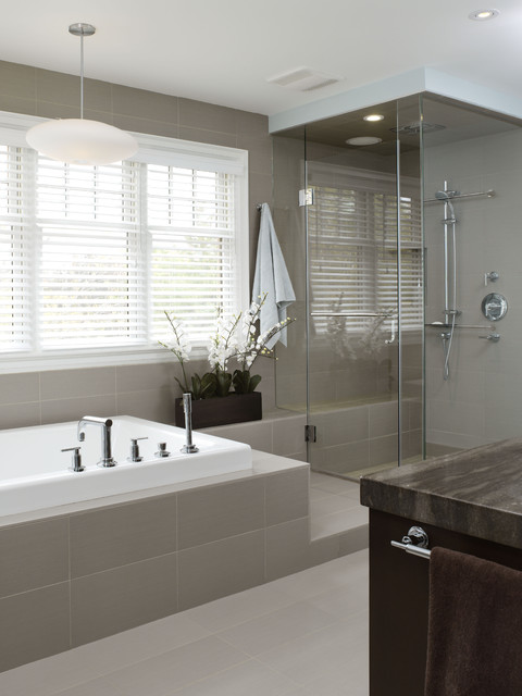 Houzz Master Bathrooms Richmond Hill Project - Master Bathroom - Contemporary