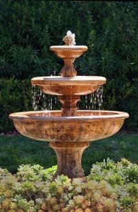 Garden Fountain - Mediterranean - Landscape - santa ...