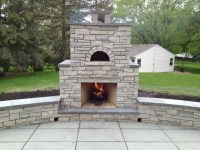 Outdoor Fondulac Stone Fireplace and Pizza Oven in St ...