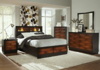 Rolwing 5Pc California King Storage Bedroom Set in Reddish ...