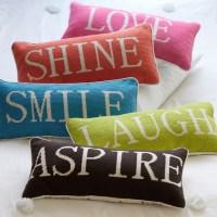 Word Pillow Collection - Contemporary - Decorative Pillows ...