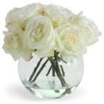 Flowers White Roses In Vase