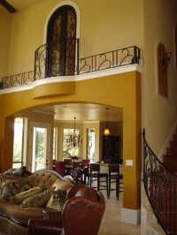 Indoor Balcony Railing - Traditional - Living Room - other ...
