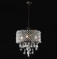 Antique Bronze 4-light Round Crystal Chandelier ...