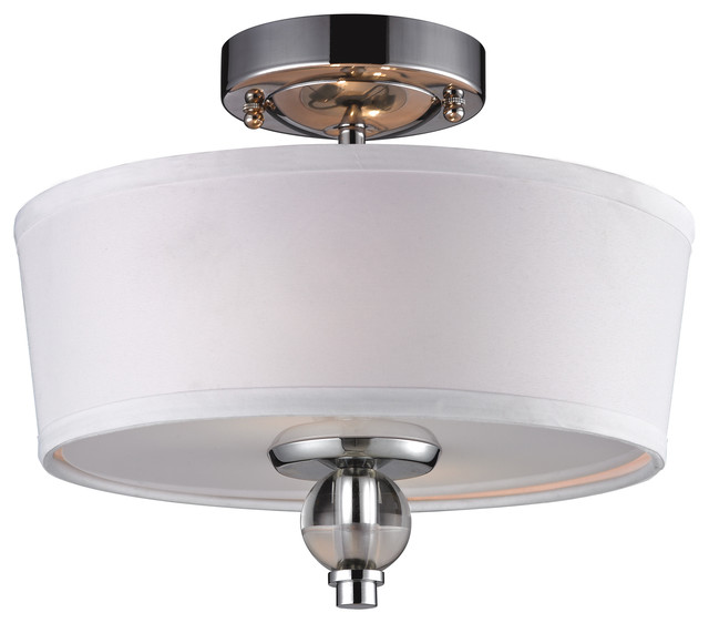 Houzz Ceiling Lights Martina 2-light Semi-flush In Polished Chrome