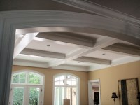 Coffered Ceiling & Entry Trim - Traditional - Living Room ...