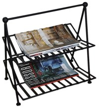 Black Wrought Iron Magazine Rack - Contemporary - Magazine ...