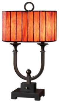 Bellevue Black Rustic Iron Accent Lamp - Rustic - Table ...