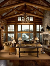 Inspired: Log Cabin Interiors  Brewster Home
