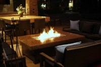 Large Balboa Fire pit table - Mediterranean - Patio - san ...