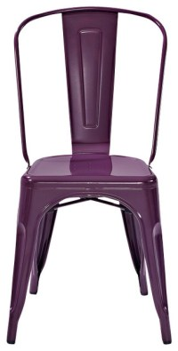 Amelia Metal Cafe Chair-Purple (set of 2) - Contemporary ...