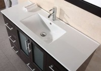 Design Element 48 in. Porcelain Countertop with Integrated ...