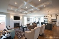 Classic Great Room with Coffered Ceiling