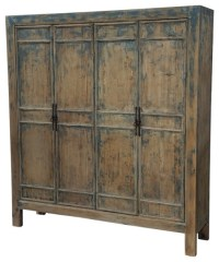 Reclaimed Wood Large Armoire - Farmhouse - Armoires And ...