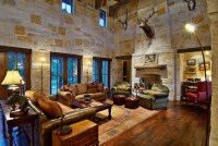 Hill Country Ranch Living Room - Traditional - Living Room ...
