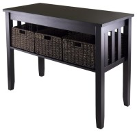 Console Hall Table in Espresso Finish - Contemporary ...