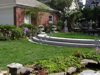 Formal Backyard Seating Area - Traditional - Landscape ...