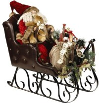 Santa in Sleigh - Traditional - Outdoor Holiday Decorations