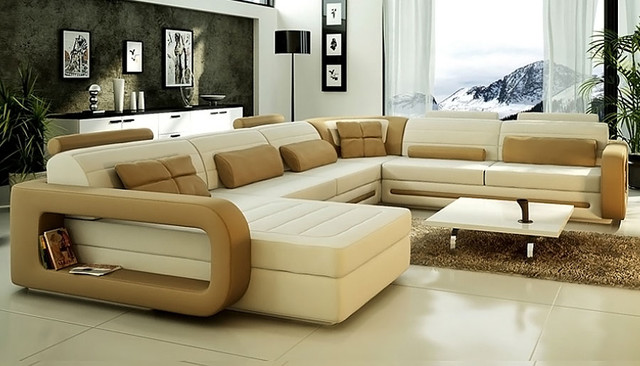U Couch U Shape Sectional Sofa Cl-s8592