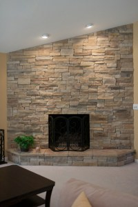 Ledge Stone Dry Stack Stone Fireplaces - Traditional ...